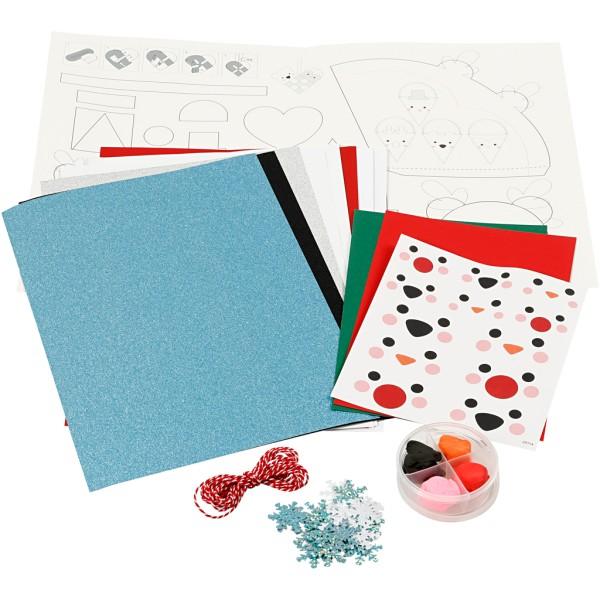 Kit de décoration en papier - Bonhomme de neige - Photo n°1