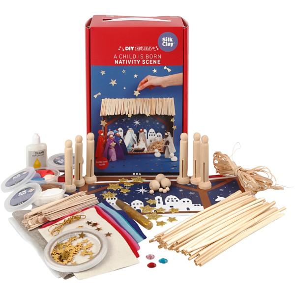 Kit de création - Crèche de Noël - Photo n°1