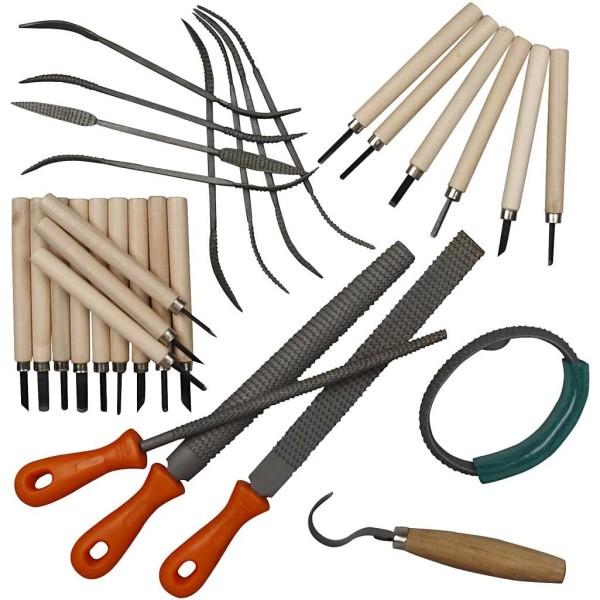 Kit d'outils pour stéatite - 31 pcs - Photo n°1