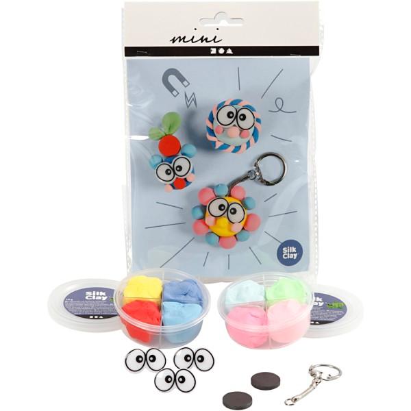 Kit créatif Silk Clay - Figurine gros yeux - Photo n°1