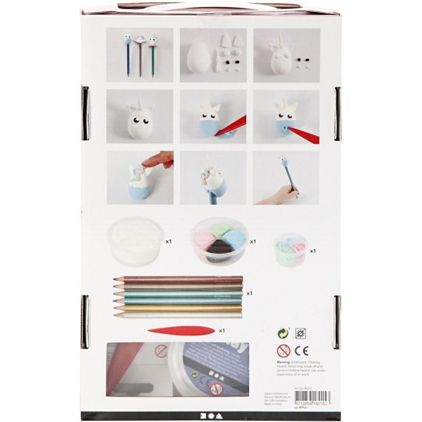 Kit créatif pâte à modeler - Crayons Licorne - Photo n°3