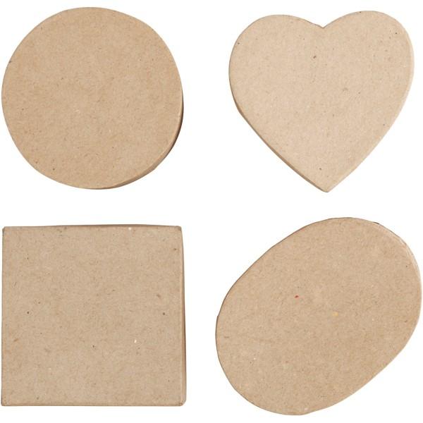 Assortiment de boîtes en papier mâché - De 10 à 18 cm - 72 pcs - Photo n°5