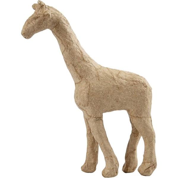 Girafe en papier mâché à décorer - 16 x 11 cm - Photo n°1