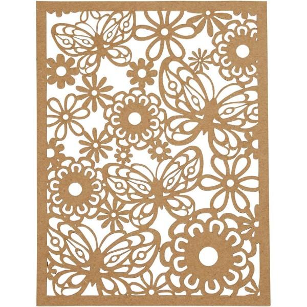 Bloc de papier cartonné aux motifs Dentelle - Gris, noir, blanc, naturel - Format A6 - 24 feuilles - Photo n°3