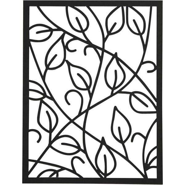 Bloc de papier cartonné aux motifs Dentelle - Gris, noir, blanc, naturel - Format A6 - 24 feuilles - Photo n°4