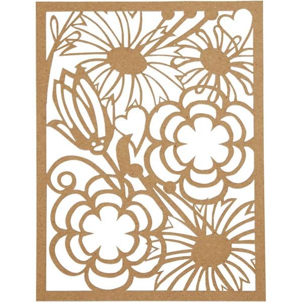 Bloc de papier cartonné aux motifs Dentelle - Gris, noir, blanc, naturel - Format A6 - 24 feuilles - Photo n°5