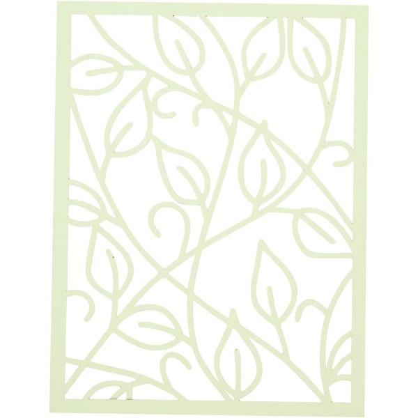 Bloc de papier cartonné aux motifs Dentelle - Vert et jaune - Format A6 - 24 feuilles - Photo n°4
