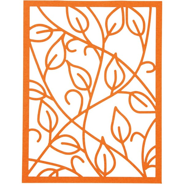 Bloc de papier cartonné aux motifs Dentelle - Rouge, rose et orange - Format A6 - 24 feuilles - Photo n°4