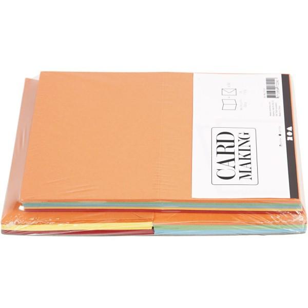 Cartes 10,5 x 15 cm et enveloppes - Assortiment de couleurs - 50 sets - Photo n°3