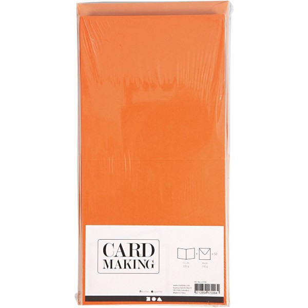 Cartes 15 x 15 cm et enveloppes - Assortiment de couleurs - 50 sets - Photo n°2