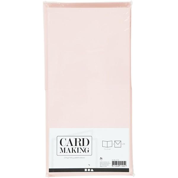 Cartes et Enveloppes - Couleurs Pastels - 15 x 15 cm, Dimension Enveloppes 16X16 Cm - 50 pcs - Photo n°2