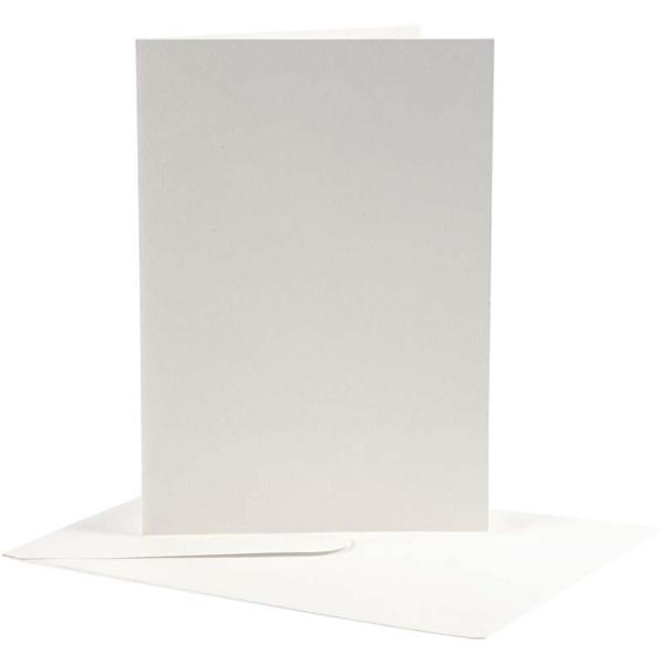 Cartes 12,5 x 17,5 cm et enveloppes - Blanc cassé - 10 sets - Photo n°1