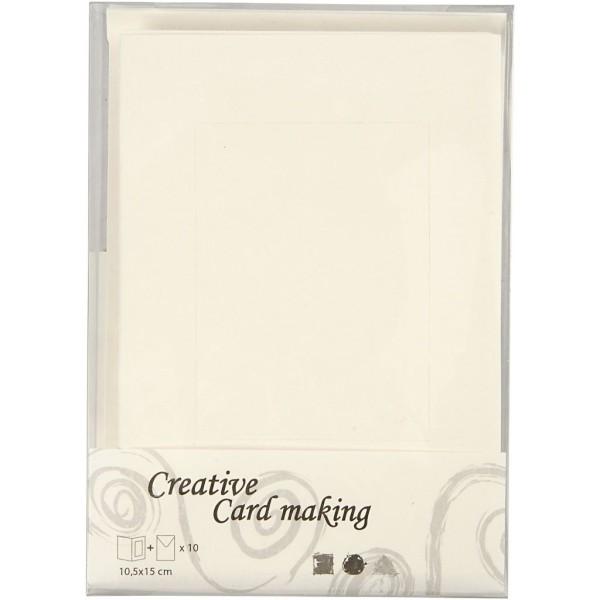 Cartes cadres carrés et enveloppes blanches - 10,5 x 15 cm - 10 pcs - Photo n°3