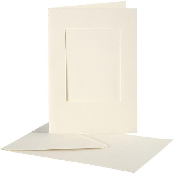 Cartes cadres carrés et enveloppes blanches - 10,5 x 15 cm - 10 pcs - Photo n°1