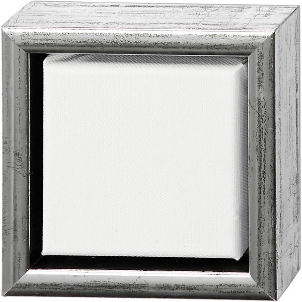 Carton entoilé avec cadre métal - 14 x 14 cm - Photo n°1