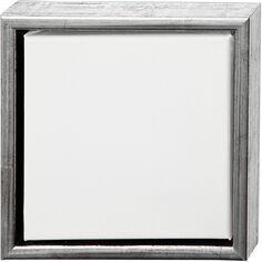 Carton entoilé avec cadre métal - 24 x 24 cm
