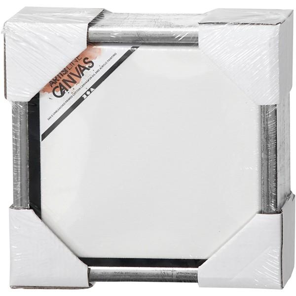 Carton entoilé avec cadre métal - 24 x 24 cm - Photo n°2