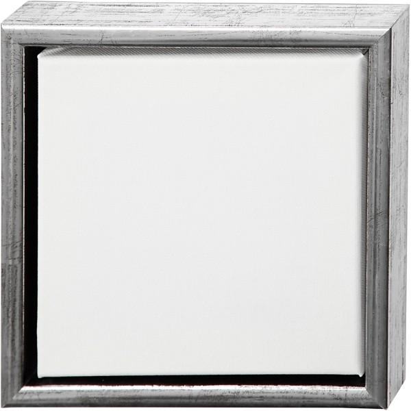 Carton entoilé avec cadre métal - 24 x 24 cm - Photo n°1