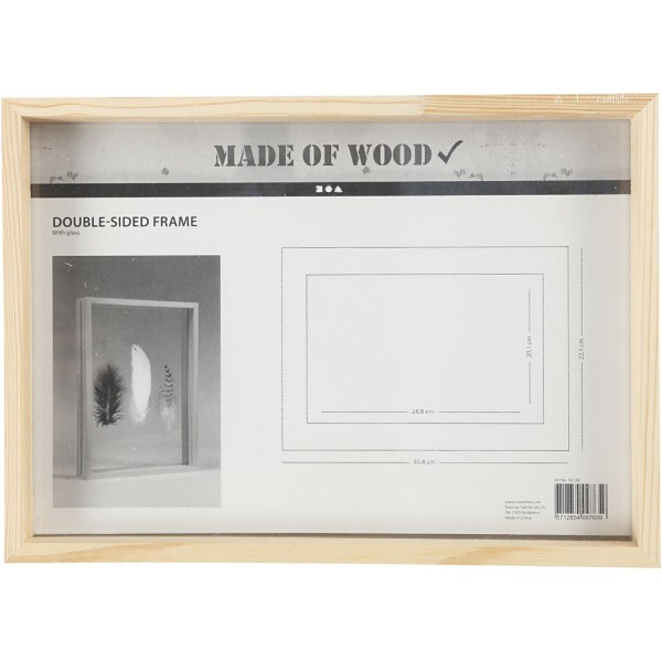 Cadre herbier en bois - 22,1 x 30,8 x 4,5 cm - Photo n°2
