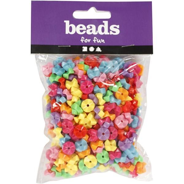 Assortiment de perles en plastique multicolore - Origami - 9,5 mm - Environ 430 pcs - Photo n°2