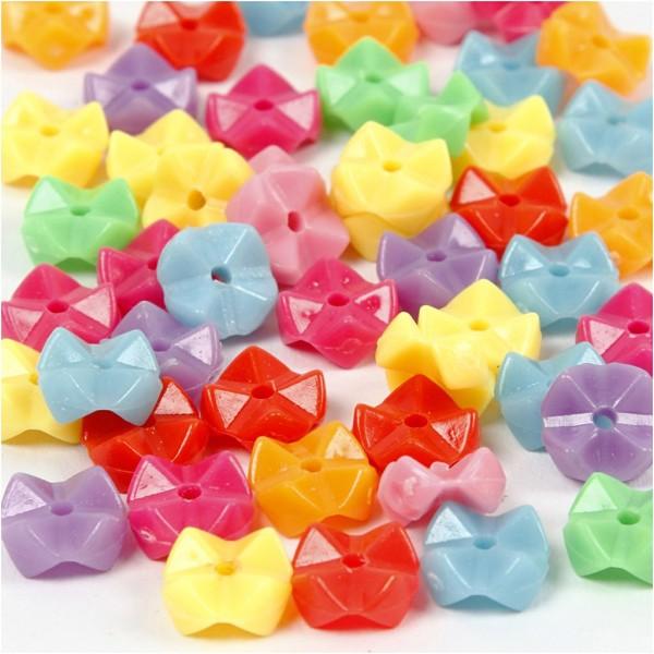 Assortiment de perles en plastique multicolore - Origami - 9,5 mm - Environ 430 pcs - Photo n°1