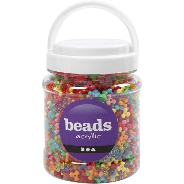 Assortiment de perles fantaisie multicolores 10 mm - 2800 pcs environ - Photo n°2
