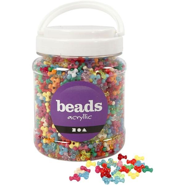 Assortiment de perles fantaisie multicolores 10 mm - 2800 pcs environ - Photo n°1