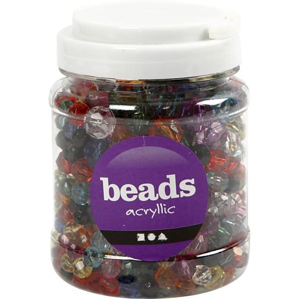 Perles à facettes transparentes - 10 à 16 mm - environ 440 pcs - Photo n°2