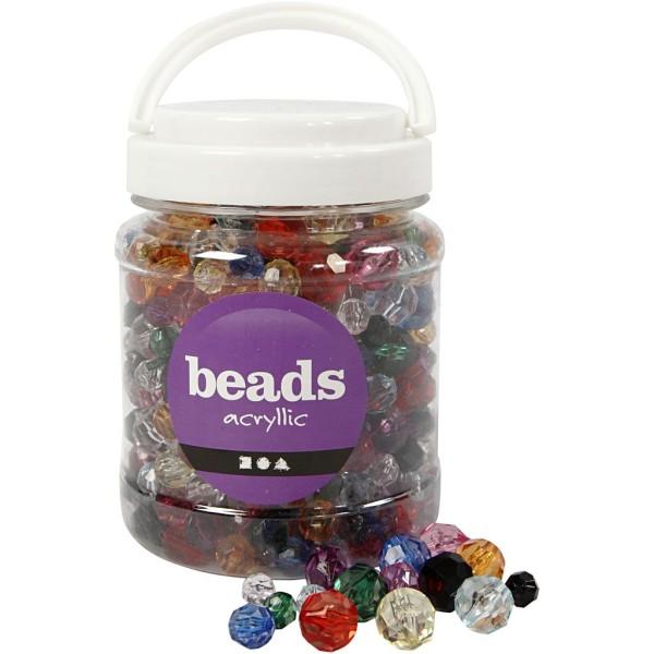 Perles à facettes transparentes - 10 à 16 mm - environ 440 pcs - Photo n°1
