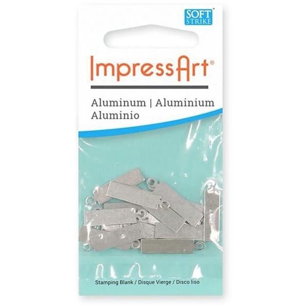 Plaque métallique en aluminium - Rectangle - 20 x 5 mm - 20 pcs - Photo n°2