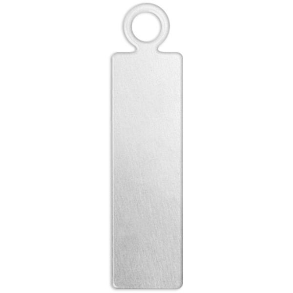 Plaque métallique en aluminium - Rectangle - 20 x 5 mm - 20 pcs - Photo n°1