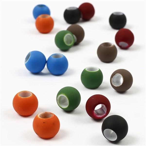 Perles - Assortiment, Dim. 8X10 Mm, Diamètre Intérieur 5 Mm, Couleurs Assorties, 300Gr, Env. 750 Piè - Photo n°2