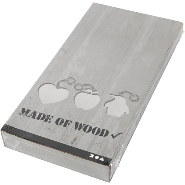 Porte-clés en bois - 16 designs - 7 cm - 128 pcs - Photo n°2