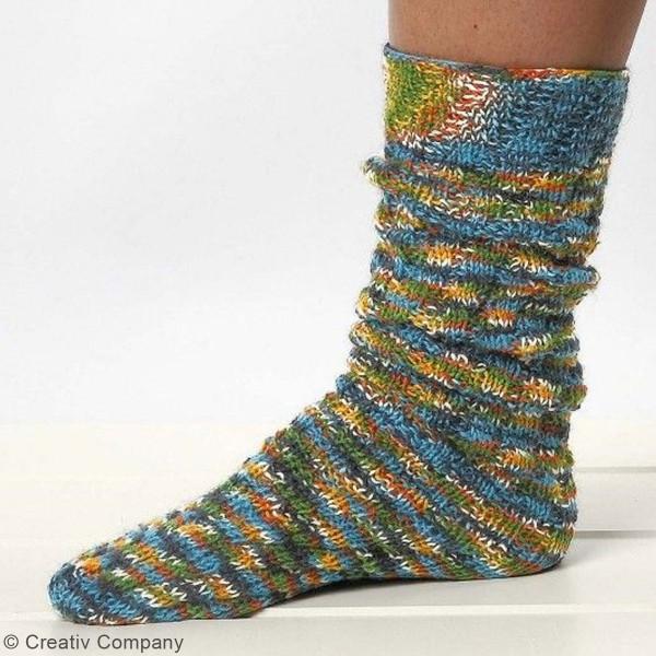 Pelote de laine pour chaussette - 50 g - Photo n°5