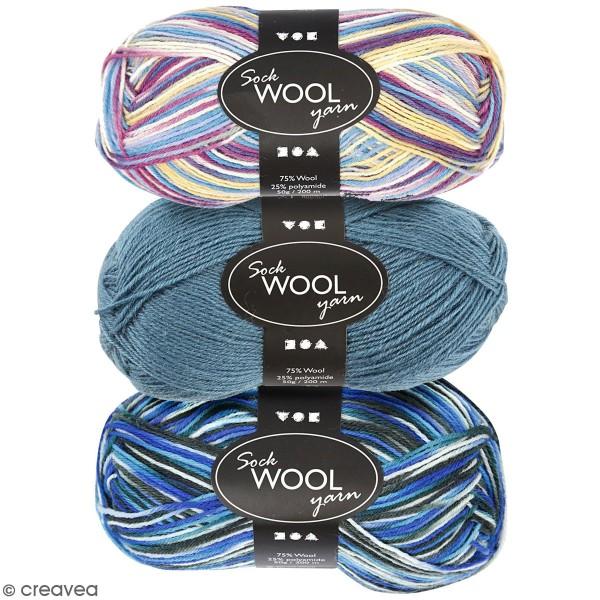 Pelote de laine pour chaussette - 50 g - Photo n°1
