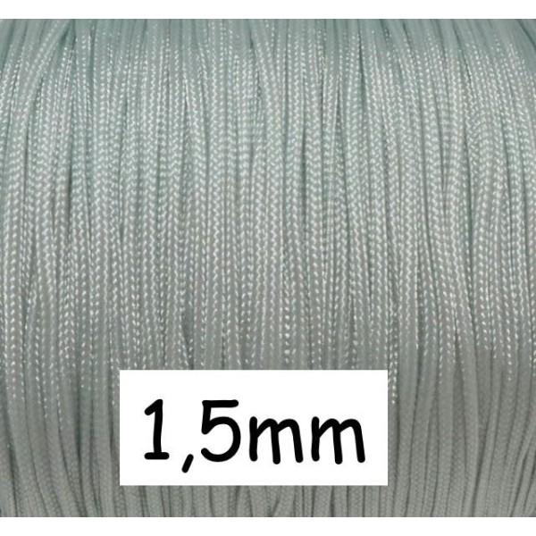 10m Fil De Jade 1,5mm Bleu Dragée Très Clair - Bracelet Shamballa Wrap - Photo n°1