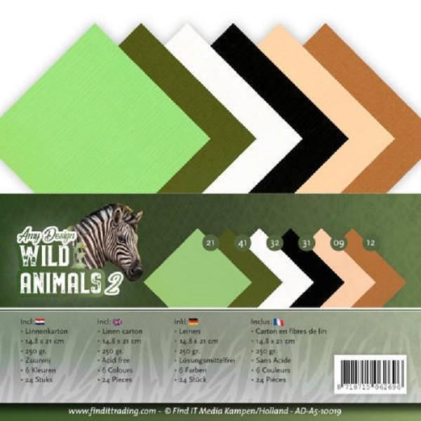 Set 24 cartes Amy Design - Wild Animals 2 - 14,8 x 21 cm - format A5 - Photo n°1
