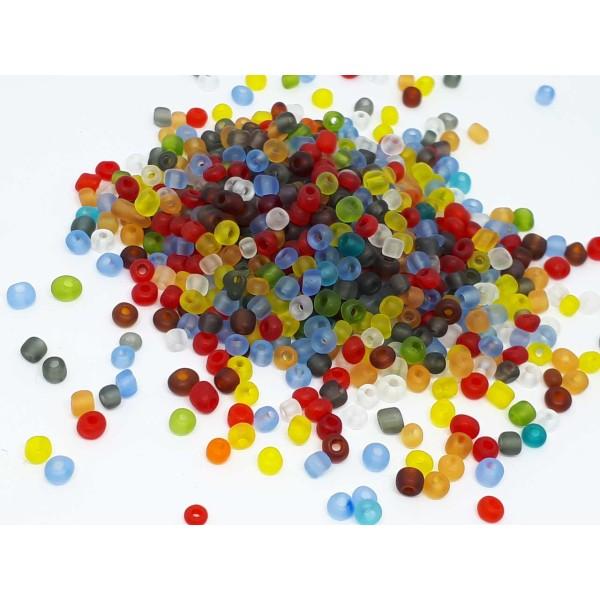 LOT DE 500 PERLES DE ROCAILLE DORE OR Ø 4 mm 6//0  CREATION BIJOUX