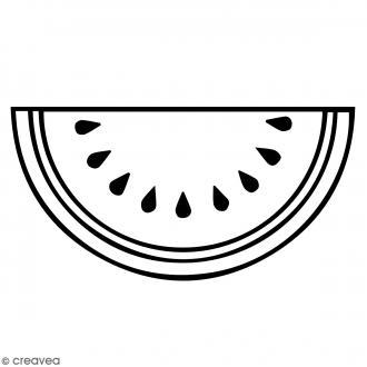 Tampon Bois Artemio - Pastèque - 3,5 x 2,5 cm