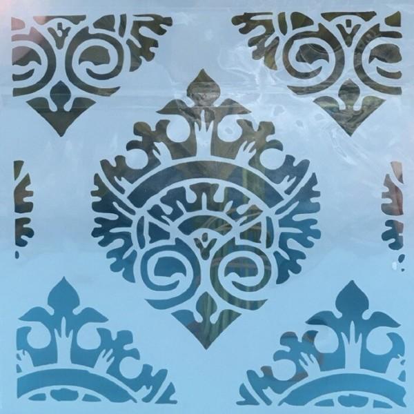 POCHOIR PLASTIQUE 15*15cm : motif antique (20) - Photo n°1
