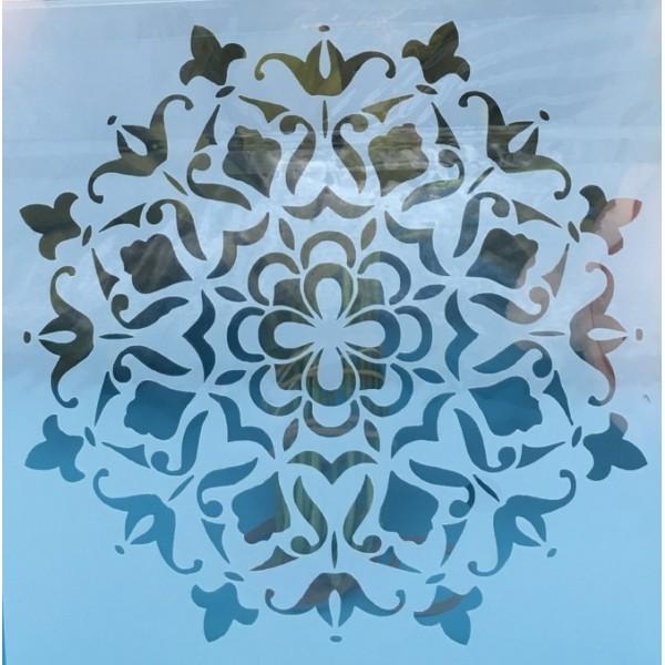 POCHOIR PLASTIQUE 15*15cm : motif antique (21) - Photo n°1