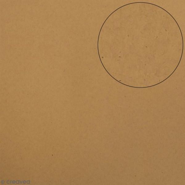 Papier scrapbooking Bazzill 30 x 30 cm - Lisse - Classic dark kraft - Photo n°1
