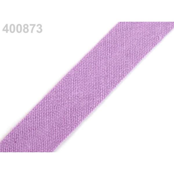 25m 400 873 Poussiéreux Lavande Seul Pli de Biais de Coton Largeur 14mm, Et les Autres bandes Pliées - Photo n°1
