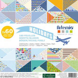 Papier Scrapbooking Artemio - Holidays - 30,5 x 30,5 cm - 180 feuilles