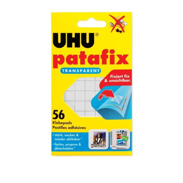 Pastilles adhésives patafix, détachable, transparent - Photo n°1