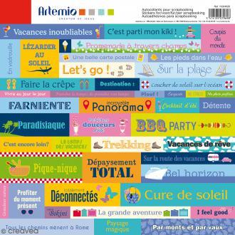Stickers Artemio - Vacances - 1 planche 30,5 x 30,5 cm