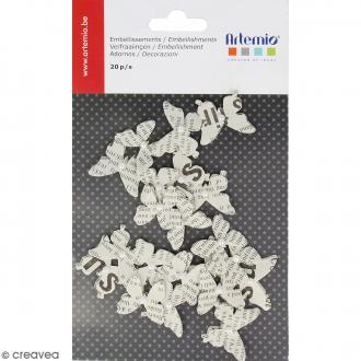 Papillons en papier journal - 20 pcs