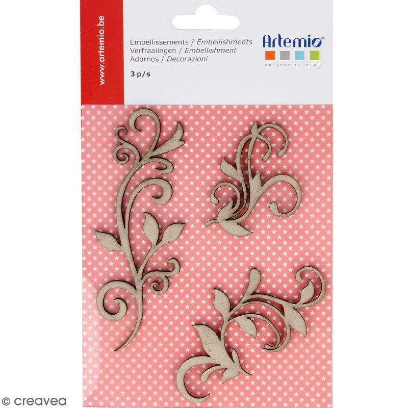 Stickers Ornements en carton miniatures - 3 pcs - Photo n°1