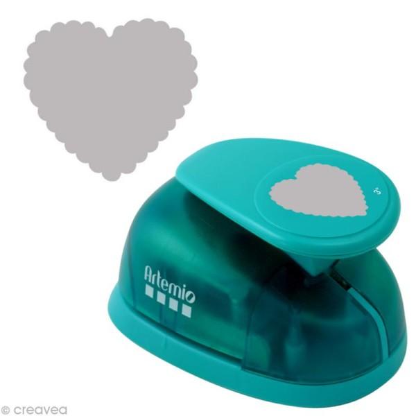 Perforatrice jumbo Coeur dentelé - 6,5 cm - Photo n°1