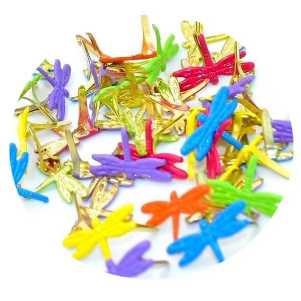 Pack de 50 attaches parisiennes libellules, brads scrapbooking, 20 mm - Photo n°1